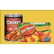Campbell's Chunky Soup or Del Monte Fruit Bowls  - 2/$5.00