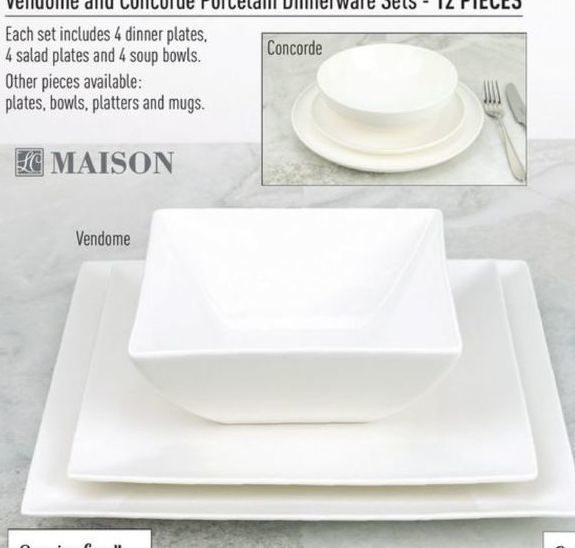 Linen Chest: Maison Vendome and Concorde Porcelain Dinnerware Set ...