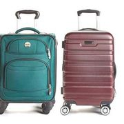 "London Fog Sandridge 19"" Hardside Carry-On Or Delsey Versailles 19"" Softside Carry-On Spinners - $79.99"