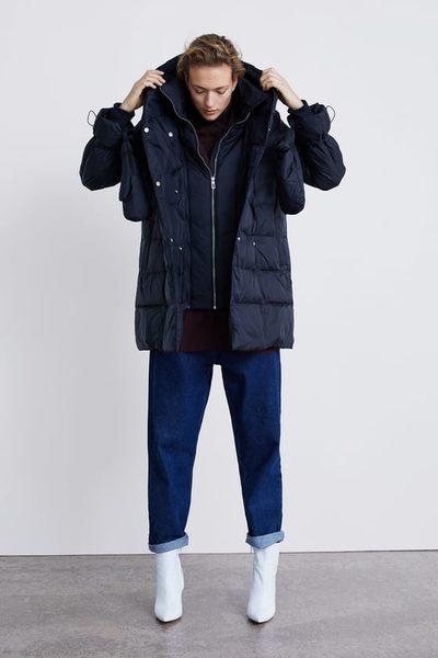 1c2670e3 Zara: Down Coat With Wrap Collar - RedFlagDeals.com