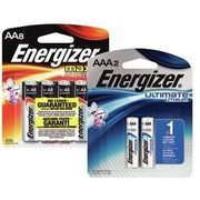 Energizer Max AA8, AAA4, C4, D4, 9V2, 2032 Or Ultimate Lithium AA4 Or AAA2 - $9.99