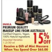 Inika Premium Quality Makeup Line - 15% off