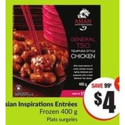 Asian Inspirations Entrees - $4.00 ($0.99 off)