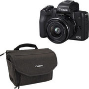 Canon EOS M50 Mirrorless Camera with 15-45mm Lens & Top Load Nylon Camera Bag - $849.99