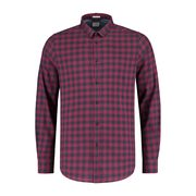 Dstrezzed Men's Tonal Block Check Peach Twill Woven Long Sleeve Shirt - $82.87 ($56.13 Off)