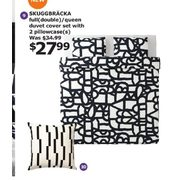 Skuggbracka Full Double/queen Duvet Cover Set With 2 Pillowcases S - $27.99
