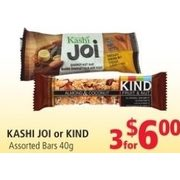Kashi Joi or Kind Bars  - 3/$6.00