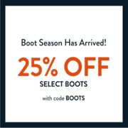 Sperry: 25% off Select Boots
