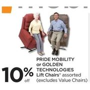 Pride Mobility Or Golden Technologies Lift Chairs - 10% off