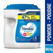 Similac Advance Step 1 or 2 Total Comfort Value Pack - $39.57/964 g ($4.41 off)