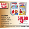 Ironkids Calcium, Multi Vitamin, Omega-3 Or Vitamin D Supplements - $5.99/with coupon ($2.00 off)