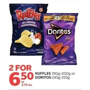 Ruffles or Doritos  - 2/$6.50