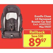 Evenflo Chase LXHarnessed Booster Car Seat  - $89.97 ($30.00 off)