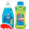 Dawn Dish Soap, Mr. Clean Cleaners or Erasers - $2.99